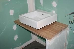 Plan De Travail Salle De Bain Bois : quelle hauteur meuble salle de bain 7 messages ~ Teatrodelosmanantiales.com Idées de Décoration