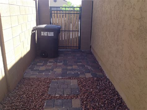 paver trash  pad outdoor trash cans kitchen trash