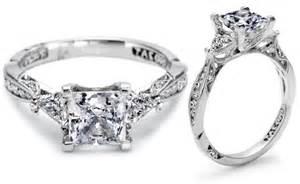 Tacori Princess Cut Modern Engagement Ring