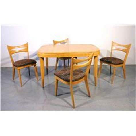 heywood wakefield dining set with 4 chairs c 1950
