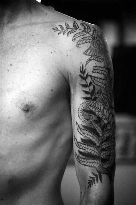 60 Fern Tattoo Designs For Men - Leaf Ink Ideas