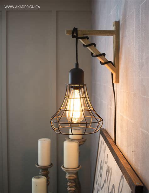 pendant light wall bracket hanging cage light