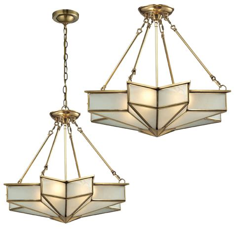 elk   decostar modern brushed brass ceiling lighting