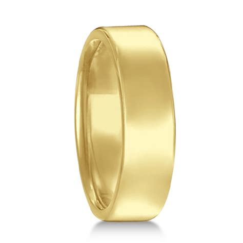euro dome comfort fit wedding ring mens band  yellow