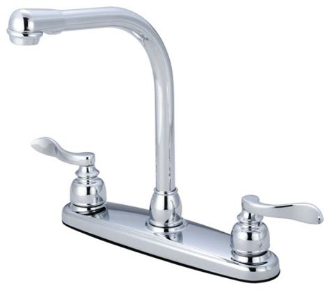 high arch kitchen faucet double handle 8 quot centerset high arch kitchen faucet modern kitchen faucets by modern