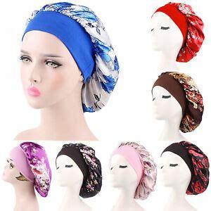 damen blume chemo muslim turban schlafhaube kopfbedeckung