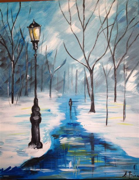 Fresh Winter Wonderland Drawing Ideas Painting