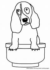 Coloring Hound Pages Basset Dog Breed sketch template