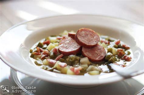 cuisine luxembourg green bean soup bouneschlupp global table adventure