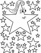 Coloring Stars Star Pages Printable sketch template
