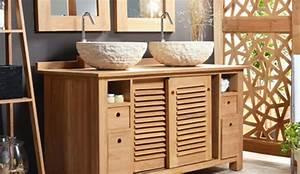 meuble salle de bain bois massif chaioscom With meuble salle de bain bois massif pas cher