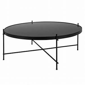 Table Basse Noire Design : table basse ronde valdo noire l choisissez nos tables basses ronde valdo noires l rdv d co ~ Teatrodelosmanantiales.com Idées de Décoration