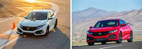 Type R Vs Si by 2018 Honda Civic Type R Vs 2018 Honda Civic Si
