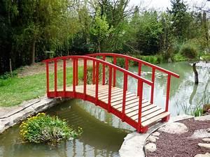 Pont En Bois Pour Jardin : un petit pont japonais bois le bouvet ~ Nature-et-papiers.com Idées de Décoration