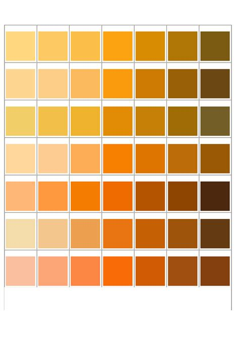 pantone matching system color chart