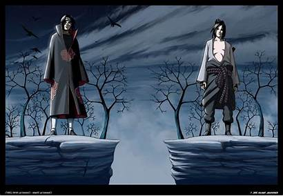 Itachi Sasuke Uchiha Naruto Akatsuki Brothers Wallpapers