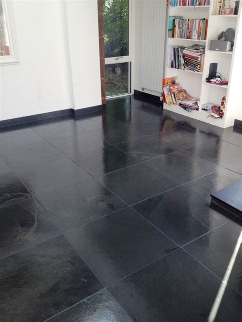 black slate floor tiles kitchen black tile floors tile design ideas 7903