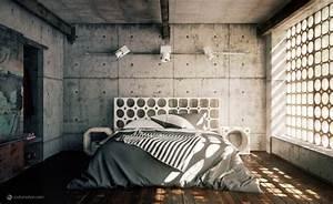 Chambre Deco Industrielle : idee deco chambre industrielle ~ Zukunftsfamilie.com Idées de Décoration