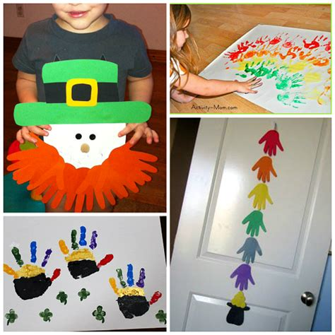 st patricks day crafts for preschoolers st s day footprint amp handprint crafts for 812