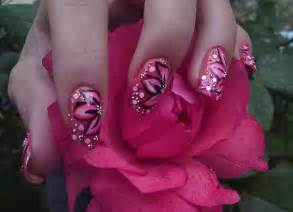 Flower nail art designs acrylic
