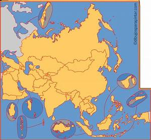 Mapa interactivo de Asia Países de Asia Dibujos para pintar Mapas Interactivos de Didactalia