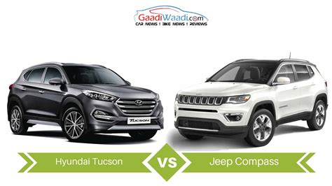 Jeep Compass Vs Hyundai Tucson Specs Comparison