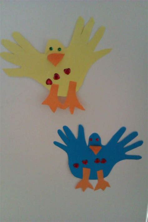 bird craft  toddlers   tracing hands
