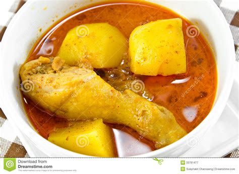 most cuisines chicken mussaman curry stock image image of soup
