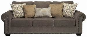 Transitional queen sofa sleeper with nailhead trim coil for Transitional sectional sofa sleeper