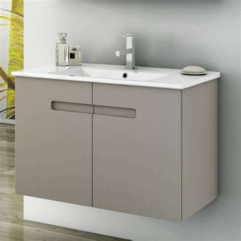 32 inch vanity cabinet with fitted sink contemporary