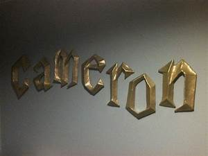Harry potter 3d wall letters by from papermachesculptures for 3d wall letters