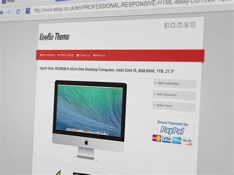 ebay template koolio responsive ebay listing template finest design