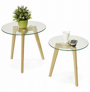 Table Verre Ronde : table gigogne ronde lovyou en verre table d 39 appoint design ~ Teatrodelosmanantiales.com Idées de Décoration