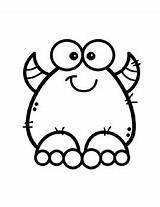 Monster Coloring Posters Word Vocabulary Created sketch template