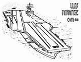 Carrier Aircraft Coloring Pages Ship Nimitz Cvn Uss Enterprise Navy Template Sketch Coloringsky sketch template