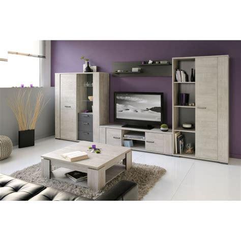 Meuble Salon Gris by Loft Salon Complet 5 Pi 232 Ces D 233 Cor Bois Gris Achat