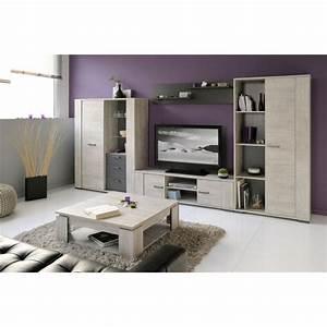 Meuble Salon Bois : loft salon complet 5 pi ces d cor bois gris achat vente ensemble meubles de salon loft salon ~ Teatrodelosmanantiales.com Idées de Décoration