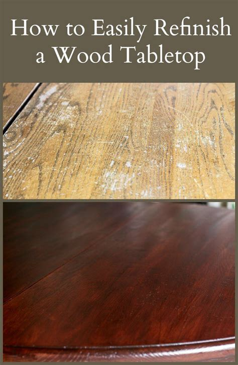 easily refinish  wood tabletop bloggers