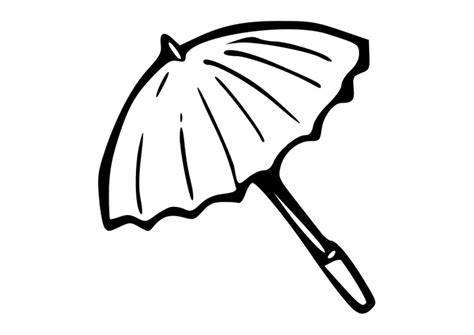 Kleurplaat Parasol kleurplaat parasol afb 19016 images