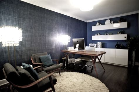 West 14th  Media Room  Contemporary  Home Office