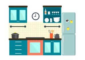 white kitchen set furniture free kitchen illustration free vector