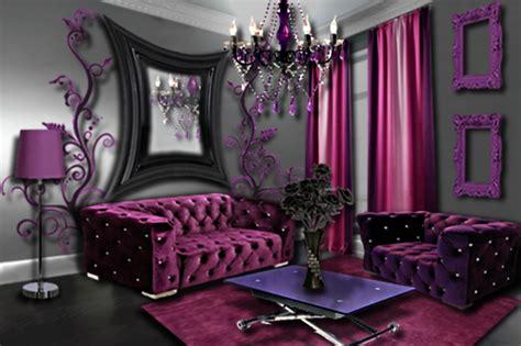 chambre violet et noir salon prune floriane lemarié