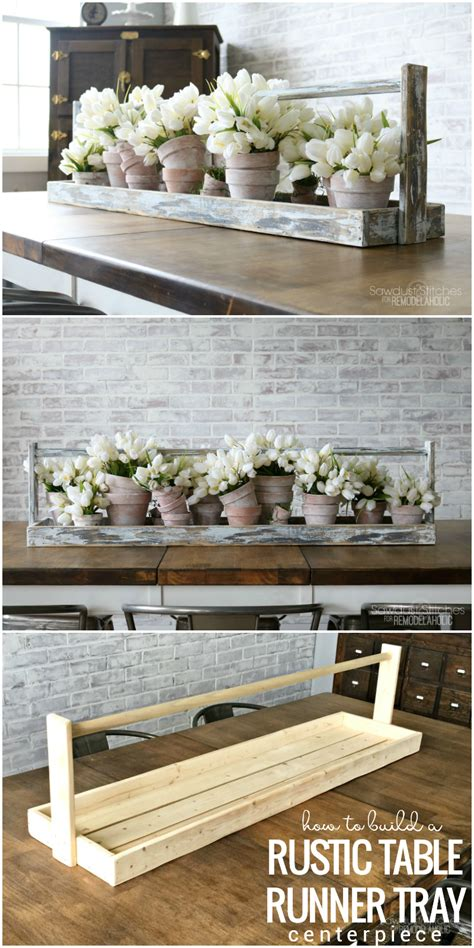 how to make a table l albert blog diy long table runner tray for a centerpiece