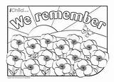 Remembrance Coloring Colouring Poppy Anzac Activities Poppies Field Remember Sheets Craft Colour Adult Flower Template Festival Holiday Holidays Baisakhi Vaisakhi sketch template