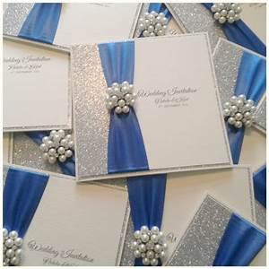 royal blue and silver wedding invitations royal blue and With wedding invitation royal blue motif