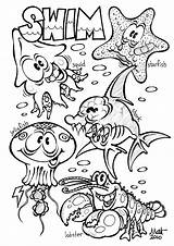 Coloring Pages Ocean Animal sketch template