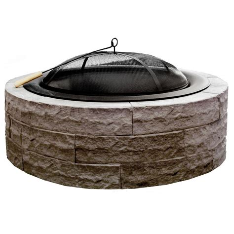 pit bowl insert series 100 42 in lightweight concrete pit kit in