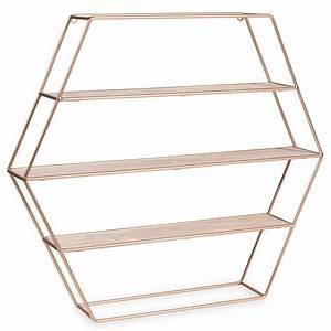 COPPER hexagonal metal shelf H 45 cm Maisons du Monde