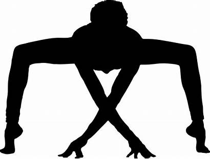 Yoga Silhouette Pose Poses Clipart Gymnast Male