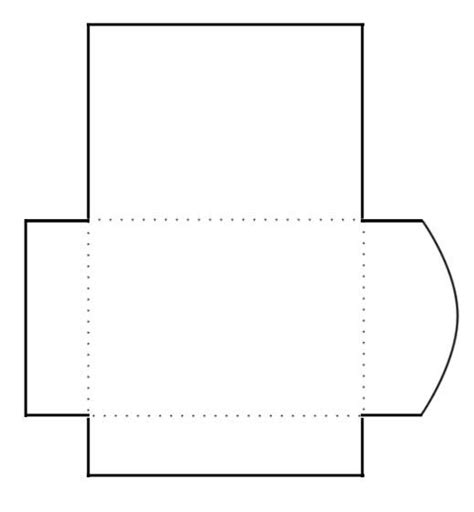 blank print  cut gift card envelope template cards